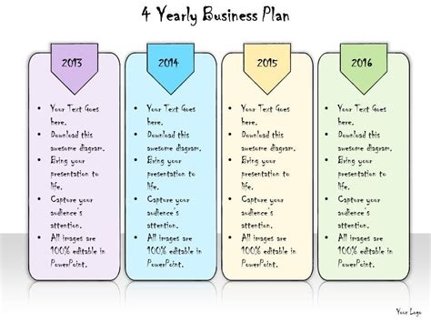 free 5 year business plan template 1013 business ppt diagram 4 yearly business plan