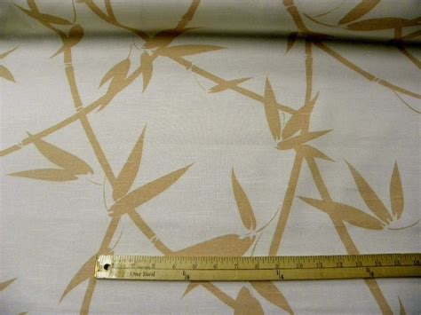 bamboo upholstery fabric 5 yards linen upholstery drapery home decor fabric peach