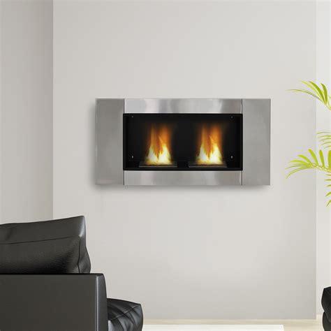 bio ethanol fireplace homcom ventless bio ethanol fireplace recessed wall