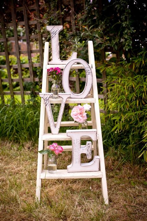 Wooden Ladder Garden Decor Vintage Garden Decor Ideas That Will Your Mind