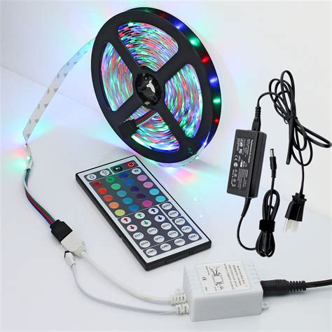 dimmable led tape lights waterproof 5m warm white rgb 12v dc dimmable smd led strip