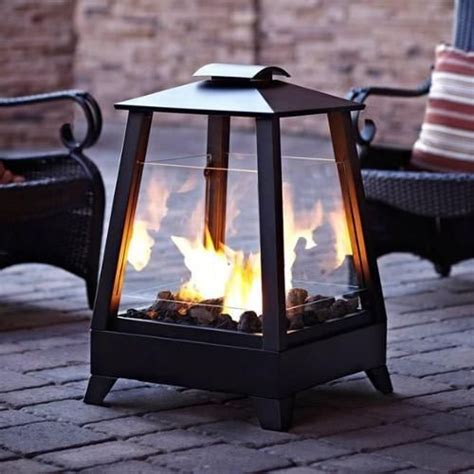 29 quot coastal square outdoor patio gel fireplace with glass