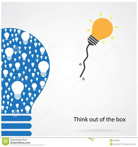 Out Of The by Think Out Of The Box Concept Stock Vector Image 40189351