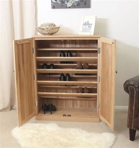 Hallway Shoe Storage Cabinet Conran Solid Oak Furniture Large Hallway Shoe Storage Cupboard Rack Ebay