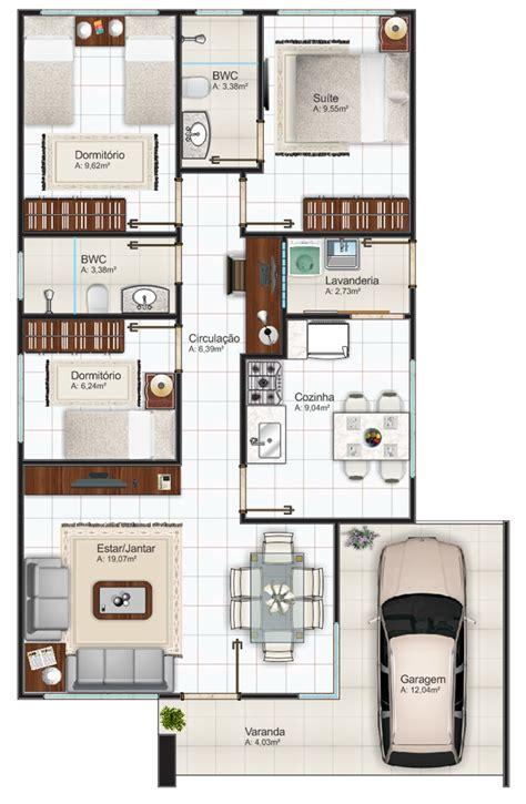 desenhar planta de casas 12 modelos de plantas de casas 3 quartos