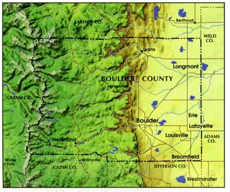 boulder colorado on map information about boulder colorado