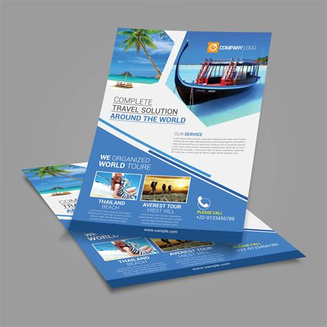 Tour Design Template by Travel Agency Flyer Template Posan Lab