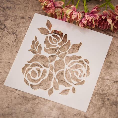 3pcs Cetakan Pastel popular flower drawing templates buy cheap flower drawing
