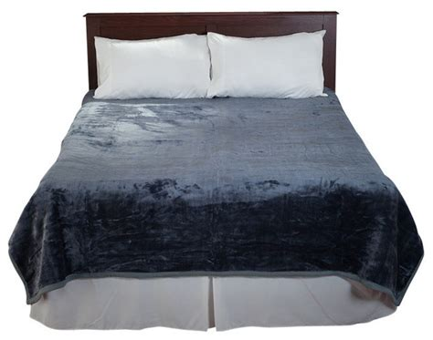 thick heavy comforters lavish home solid soft heavy thick plush mink blanket
