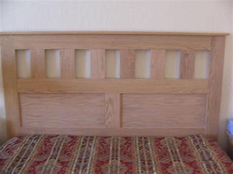 build   craftsman style queen size headboard