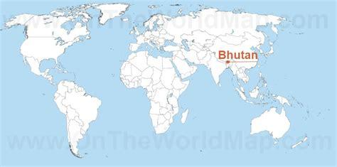 where is bhutan on a world map bhutan on the world map bhutan on the asia map