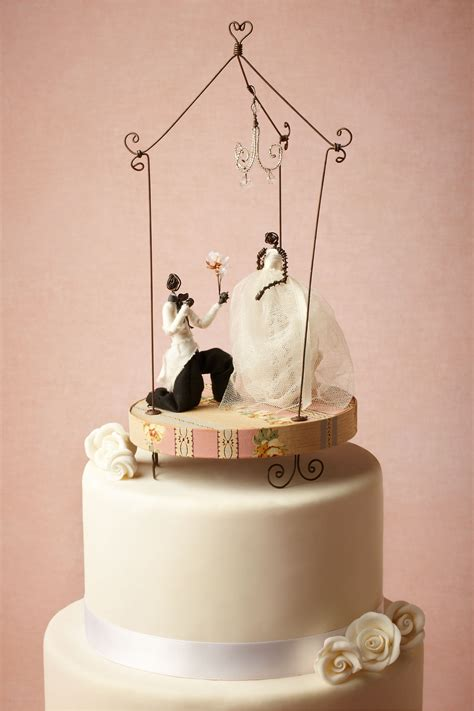 Handmade Wedding Cake Toppers - handmade wedding cake topper by bhldn onewed