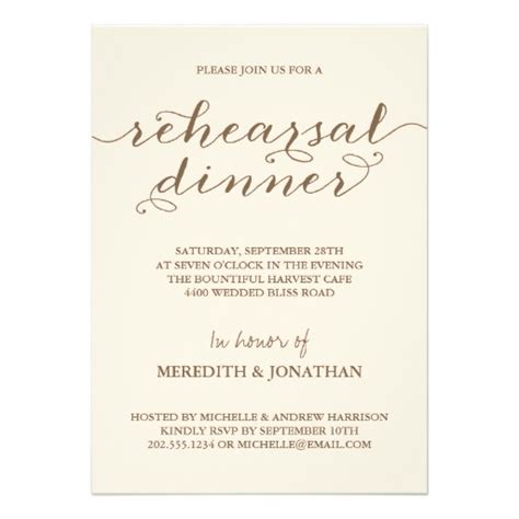 rehearsal dinner invitations rehearsal dinner 5x7 paper invitation card zazzle