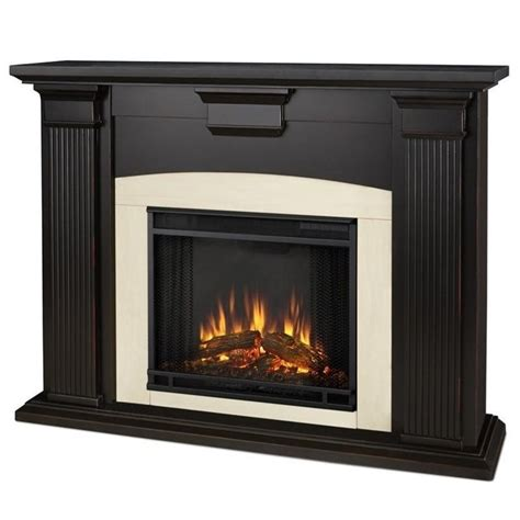 Indoor Electric Fireplace Real Adelaide Indoor Electric Fireplace In Black Wash 7920e Bw