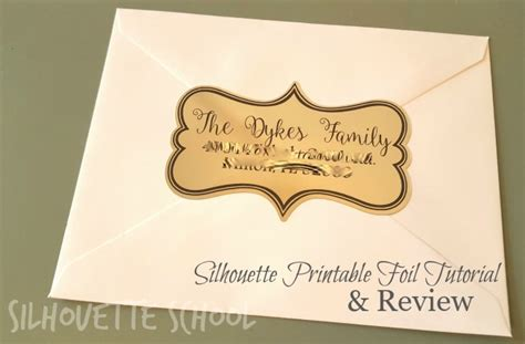 printable gold label silhouette printable foil tutorial review and the