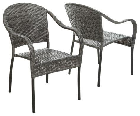 grey wicker club chairs livingston outdoor grey wicker chair set of 2