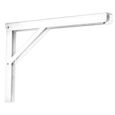 Folding Shelf Bracket Home Depot by Knape Vogt 16 In Heavy Duty Folding Shelf Bracket In