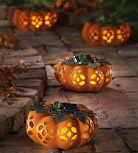 decorative halloween pumpkins environment friendly solar powered decorations for