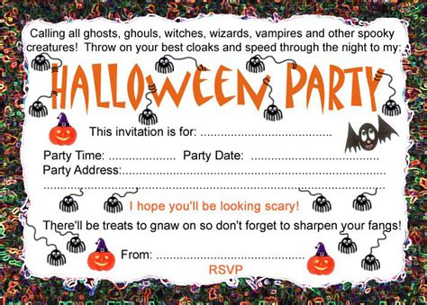 printable halloween invitations to color 6 best images of free printable blank halloween