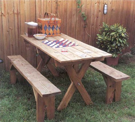 outdoor wooden table and benches pdf outdoor wood picnic table plans plans free