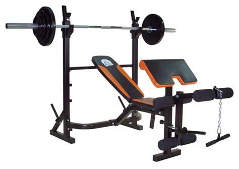 Bench Press Standard Banc De Musculation Fitness Doctor Titan Bench Noir Orange