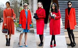 how to wear red coats style inspiration