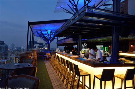 Bar Cupola above eleven rooftop bar restaurant bangkok asia bars restaurants
