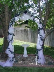 Backyards For Rent For Weddings by Wedding Arches Wedding Arch For A Backyard Wedding