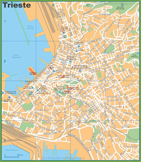 triest map tourist map of trieste city centre
