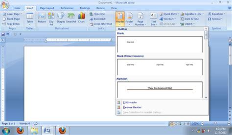 fungsi tab design pada header dan footer tools agnes wiene berliandery penggunaan header dan footer
