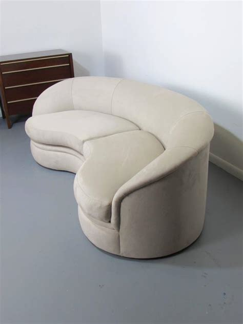 kidney shaped sofas biomorphic kidney bean shaped sofa by vladimir kagan for