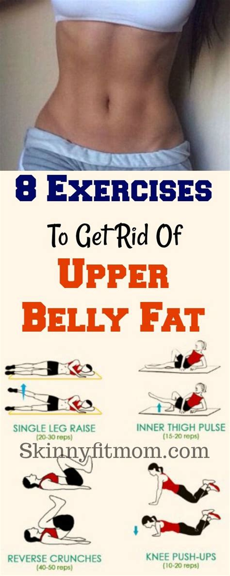 exercises  burn upper belly fat healthy living