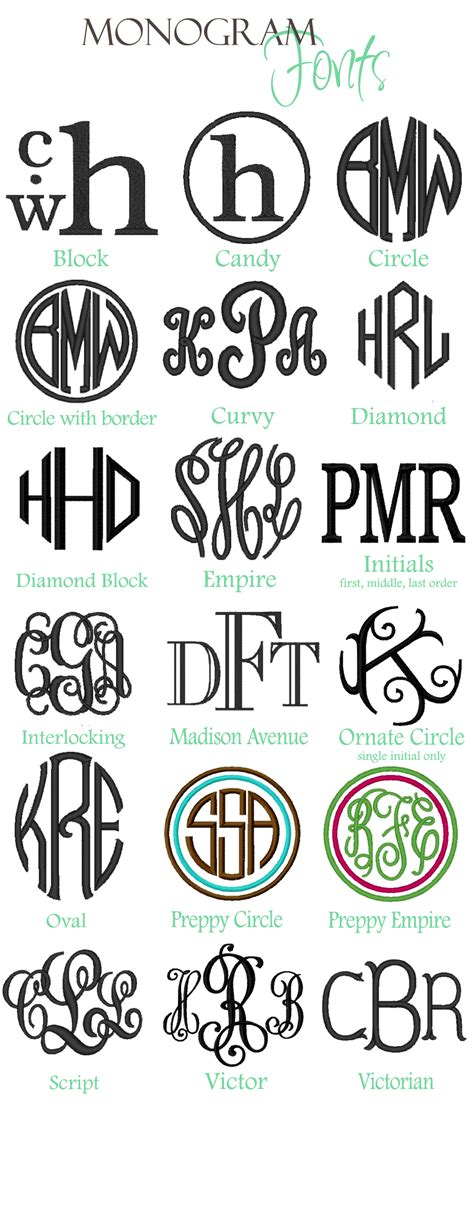font design application monogram monogram styles name styles thread colors vinyl