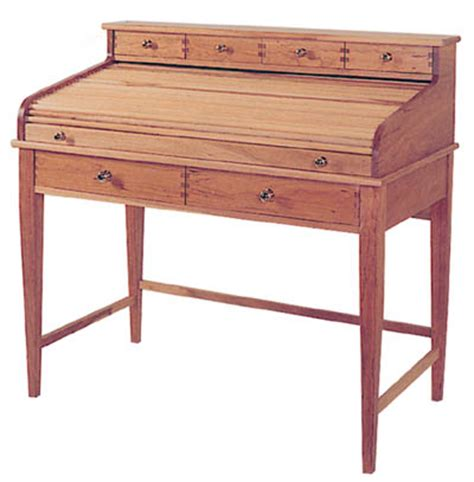writing desk plans woodworking rolltop writing desk woodworking plan from wood magazine