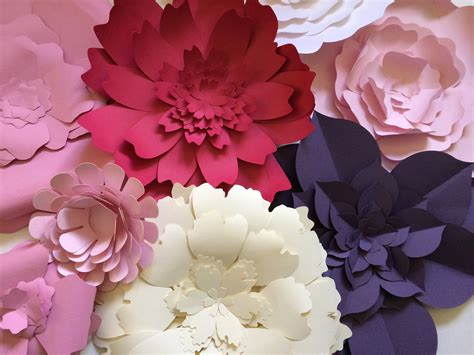 How To Make Paper Wall Flowers - large paper flower wall decor paperflora