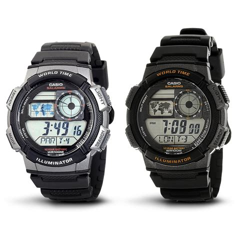 Casio Original Standard Ae 1000w casio ae 1000w 1a original world time daftar update