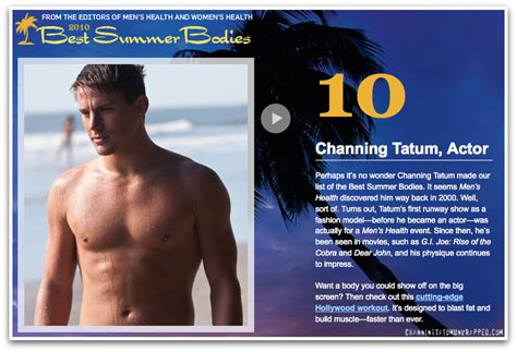 10 Best Of 2010 by In The Press Channing Tatum Makes S Health Magazine S