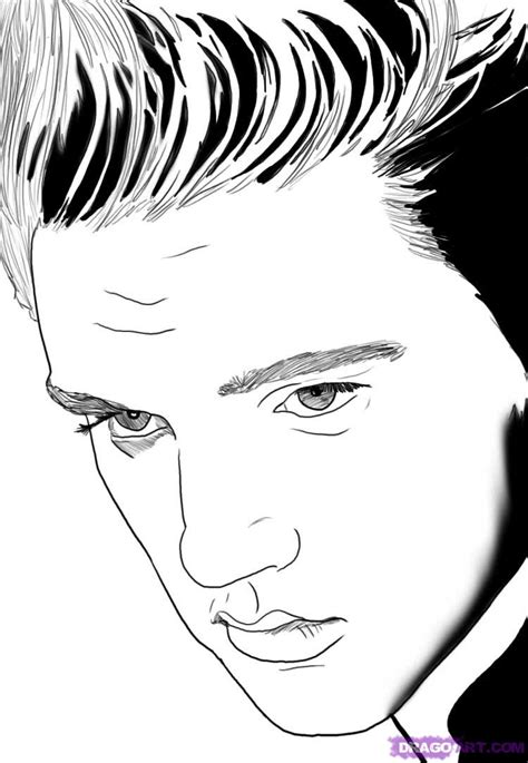 Elvis Presley Coloring Pages Bestofcoloring Com Elvis Coloring Pages