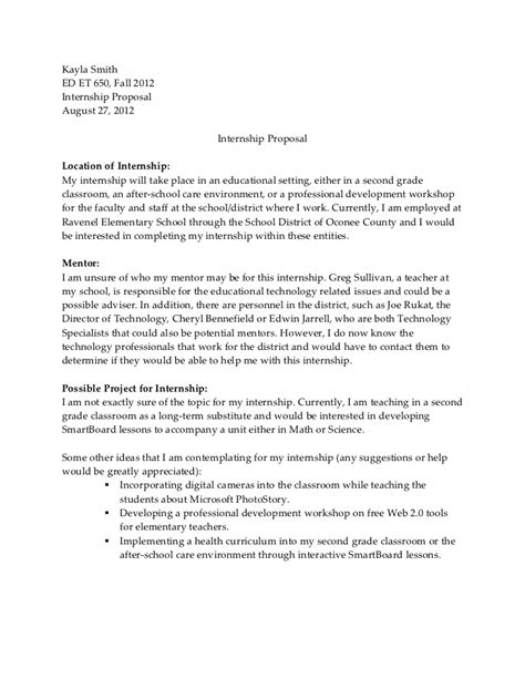 Letter Of Intent For Research Internship Internship