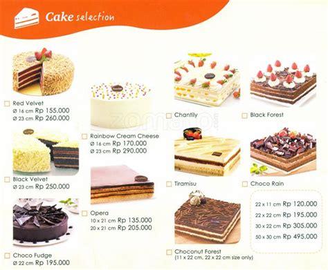 Coklat Kotak Kecil Kue Tart daftar harga cake breadtalk delivery terbaru 2018 harga menu