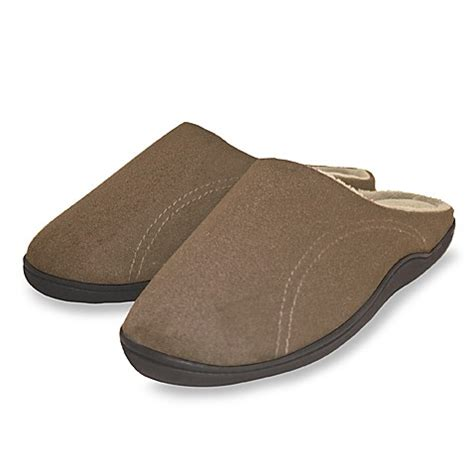 bed bath and beyond slippers men s memory foam slippers extra large bed bath beyond