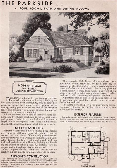 Modern Foursquare House Plans sears modern homes 1936 parkside honor bilt kit house