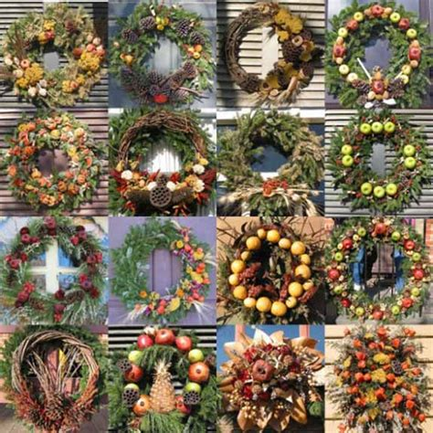 Wreath Decorating Ideas by Wreaths For Fall And Winter Decorating 30 Door