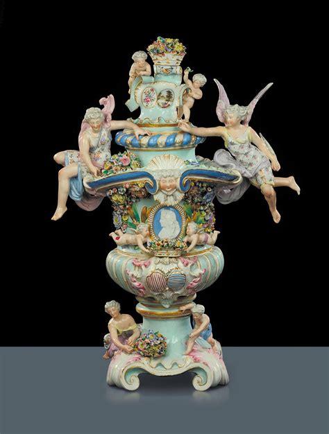 vasi capodimonte antichi grande vaso in porcellana di meissen di forma neoclassica