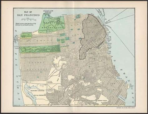 san francisco map before 1906 1906 san francisco map showing earthquake