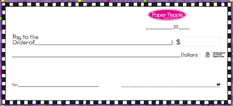 Create Instant Payroll Checks With Your Own Printer Party Invitations Ideas Print Your Own Checks Template