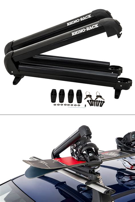 Roof Rack For Fishing Rods by Rhino Rack Roof Mount Fishing Rod 4 Ski 2 Snowboard