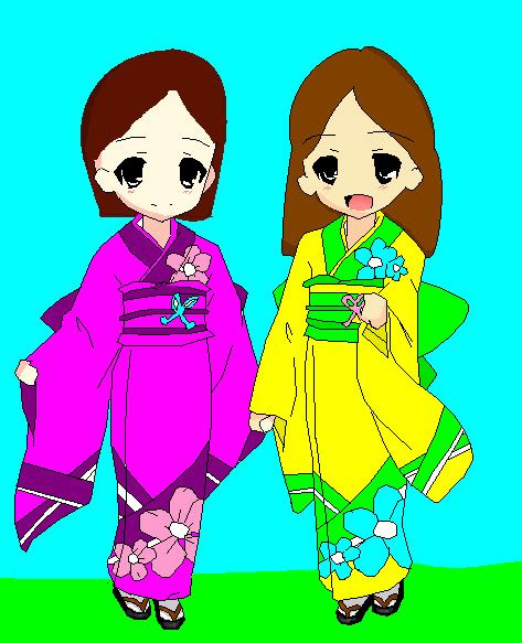 bff kimonos by phychobunny555 on deviantart