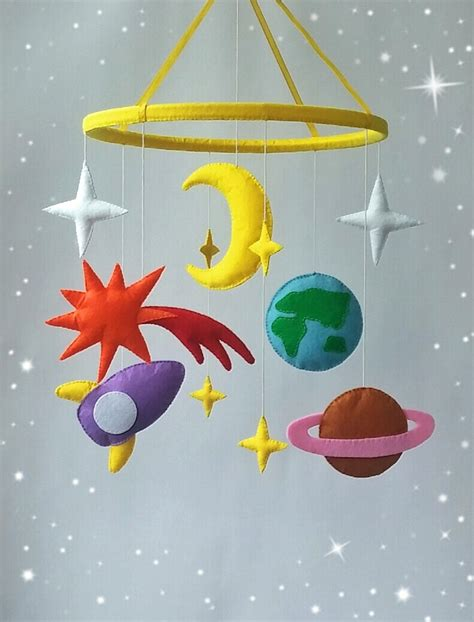 Baby Ceiling Mobile by Space Crib Mobile Baby Mobile Nursery Decor Baby Crib By