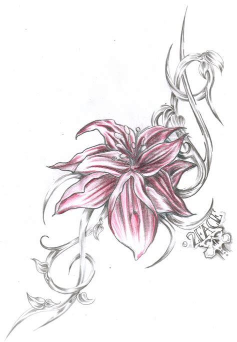flowers tribal tattoos flower tribal by 2face on deviantart